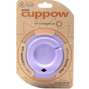 Cuppow Canning Jar Drinking Lid - Wide Mouth (Lavendar)