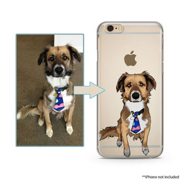 Custom illustrated Dog iPhone Case, Hand Drawn Dogs iPhone Case, Image illustration, Iphone 6s case, iPhone 7 case, iPhone 7 plus case
