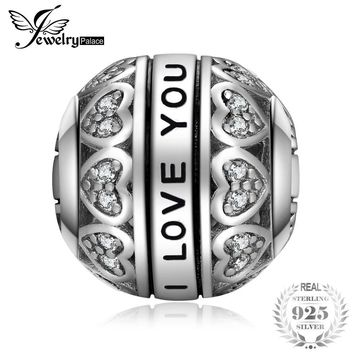 JewelryPalace Grandmother Women Vintage Heart Love Beautiful Delicate 925 Sterling Silver Charm Beads Bead Fit Bracelets