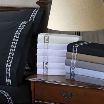 Wrinkle Resistant Embroidered Regal Lace 6-piece Deep Pocket Sheet Set   Overstock.com Shopping - The Best Deals on Sheets