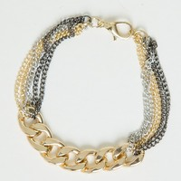 GOLD MULTI CHAIN BRACELET