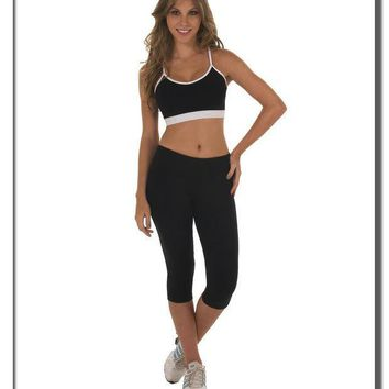 ac PEAPON Stylish solid color black running yoga pants [9919769036]