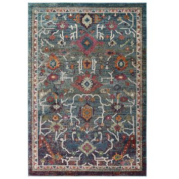 Tribute Every Distressed Vintage Floral 8x10 Area Rug