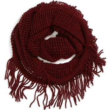 David & Young Open Weave Infinity Scarf (Juniors)
