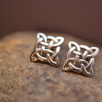 Sterling Silver Celtic Knot Post Earrings