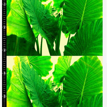 "Growing green art print fabric Art print fabric 50""x39"" Aproximately 127x100cm each Growing under the sunlight"