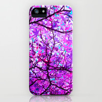 purple tree XX iPhone & iPod Case by Blackpool