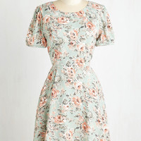 Mid-length Short Sleeves A-line The More the Prairie-r Dress