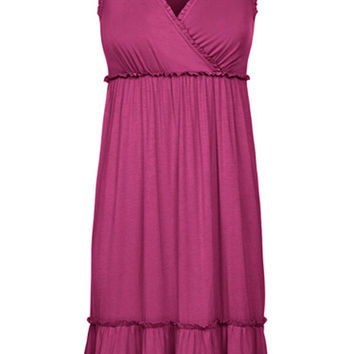 Crossover Maternity & Nursing Nightgown {Cranberry}