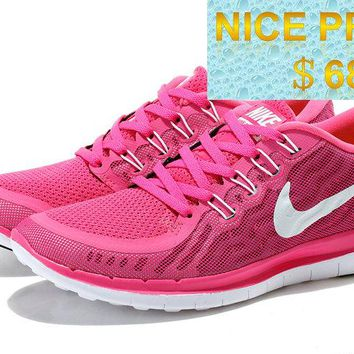 Latest and Cheapest Nike WMNS Free 50 Pink Flash Fushcia Club Pink White sneaker
