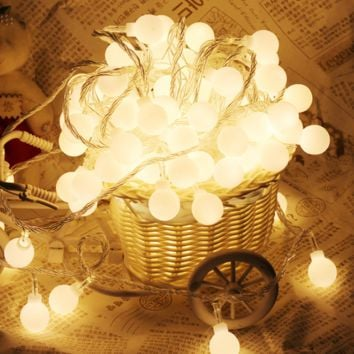 Fashion 20pcs LED Rattan String Round Ball Lantern Lights Christmas Wedding Party Decoration