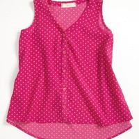 Soprano Woven Tank Top (Big Girls) | Nordstrom
