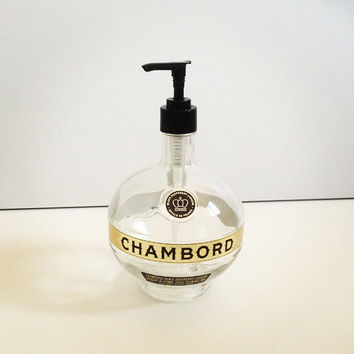 CHAMBORD Soap Dispenser - 700ml - Upcycled Bottle - Bathroom Home Decor, Lotion Dispenser, Recycled Bottle, Makers Mark Lotion Dispenser