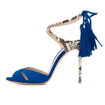 Women's High Heel Open Toe Peep Toe Cut Out Sandals Cross-Strap Lace Up Ladies Summer Shoes Self-tie Party Dress Shoes