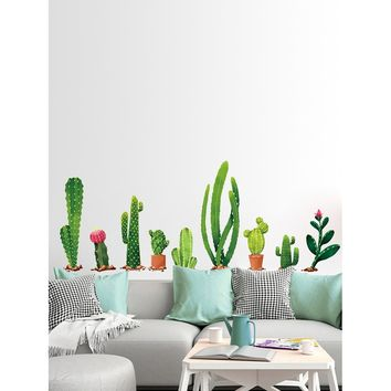 Multi Shaped Cactus Wall Decal