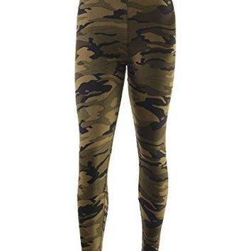 BILY Love You Womens Brushed Super Soft Print Leggings For Tunics