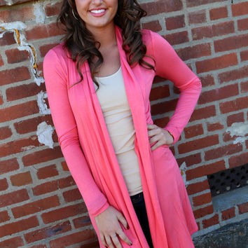 Care Free Cardigan {Coral}