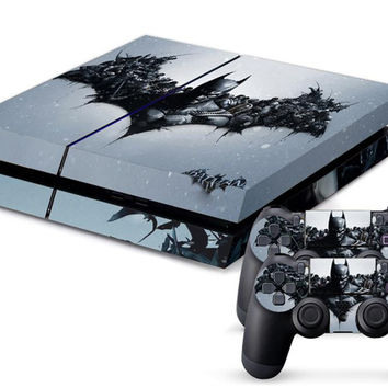 Batman Vinyl Decal Skin For playstation 4 Console +2Pcs Stickers For ps4 Controllers