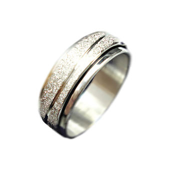 Punk 5mm Stainless Steel Anniversary Wedding Bands 220 Silver