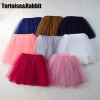 2-7Y Fashion Girl Clothes Tutu Skirt Kids Princess Girls Skirts Lovely Ball Gown Pettiskirt TUTU Children Clothing Baby Clothes