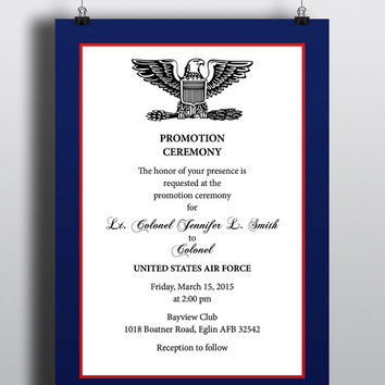 Military style promotion recognition elegant professional patriotic