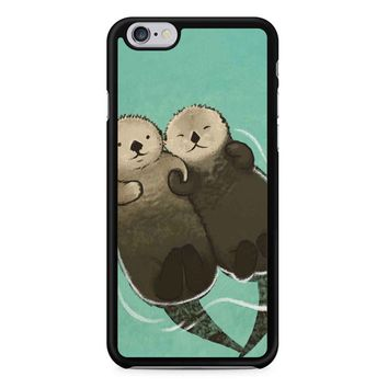 Significant Otters Otters Holding Hands iPhone 6/6S Case