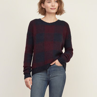 Patterned Rib-trim Sweater