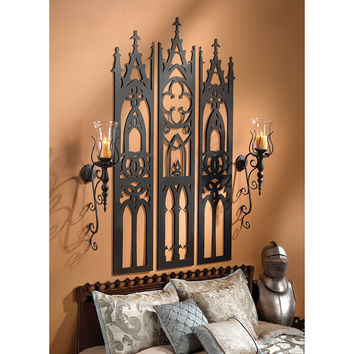 Park Avenue Collection Gothic Cathedral Tryptych Wall Sculpture