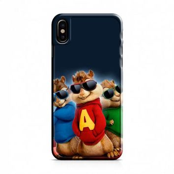 Alvin And The Chipmunks The Road Chip Movies Glasses Hip Hop iPhone X Case