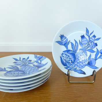 Six Limoges Bracieux by Patrick Frey canape or bread plates