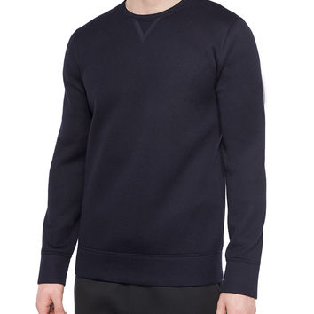 Ink-Sponge Fleece Sweater, Navy, Size: