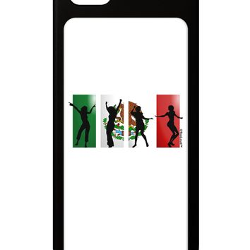 Mexican Flag - Dancing Silhouettes iPhone 5 / 5S Grip Case  by TooLoud