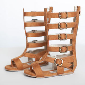Rust Jayla Gladiator Sandal & Headband - Kids | Something special every day