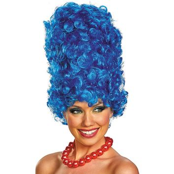 The Simpsons Marge Deluxe Glam Costume Wig - Adult (Blue)