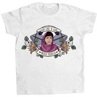 Fight Like A Girl (Malala) -- Women's T-Shirt