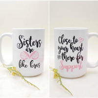 Sister Mug, Best Friend Mugs, Soul Sisters, Best Friend Gift Mug, Motivational Mug, Best Friends Mug, Bridesmaid Mug, Mug for Best friend