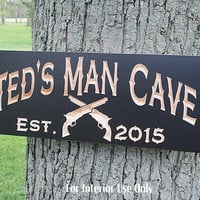 Custom Man Cave Sign, Guy Gift, Rustic Man Cave Sign, Carved Wooden Sign, Man Cave Sign, Garage Sign, Benchmark Signs, Maple CP