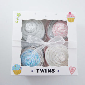 Twin Boy and Girl Baby Gift  - 12 piece set Baby gift for Twin Boy and Girl - truck alligator