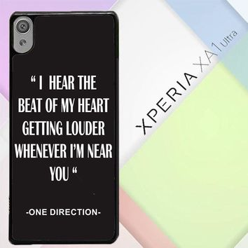 One Direction Lyrics R0263 Sony Xperia XA1 Ultra Case
