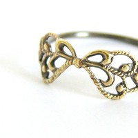 Delicate Filigree Ring. Sterling S.. on Luulla