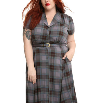 Outlander 1940's Shirt Dress Plus Size