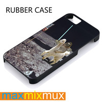 Sloth Llama Lasers On Moon iPhone 4/4S, 5/5S, 5C, 6/6 Plus Series Rubber Case