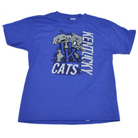UK Super Cats Youth Size University of Kentucky on a Youth Blue Short Sleeve T Shirt