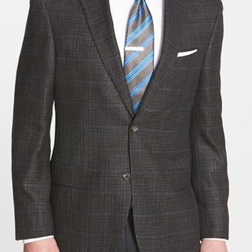 David Donahue 'Connor' Classic Fit Plaid Wool Blend Sport Coat,