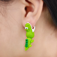 Handmade Crocodile Earrings