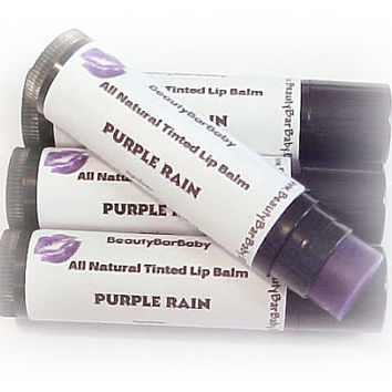 Tinted Lip Balm Purple Rain All Natural Lipstick Lip Sheer New Formula