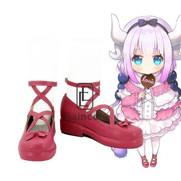Anime Kobayashi san Chi no Maid Dragon Miss Kobayashi's Dragon Maid Kanna Kamui Cospla