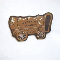 Rare Die Cut, Wagon-Shaped Welcome Wagon Needle Book w/ Woonsocket Radio Station + Food Fair Grocery Store Promo Needle Book/Rare