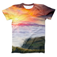 The Foggy Mountainside ink-Fuzed Unisex All Over Full-Printed Fitted Tee Shirt