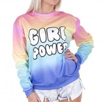 Power Rainbow Printed Hoodies